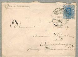 1898 - Navigazione Sul Lago Di Garda - Busta Per La Germania - 1878-00 Umberto I