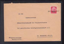 Dt. Reich Elsass Frankreich France Brief Harskirchen Nach Mannheim - Besetzungen 1938-45
