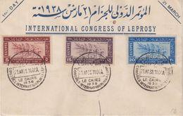 EGYPTE : OBL . 1 Er JOUR DU DU CONGRES INTERNATIONAL DE LA LEPRE . 1938 . - Egypt