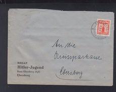 Dt. Reich Brief Hitler-Jugend Ebersberg - Dienstpost