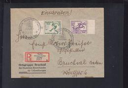Dt. Reich R-Brief 1936 Olympia Stadion Presse - Briefe U. Dokumente