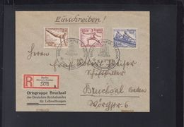 Dt. Reich R-Brief 1936 Olympia Stadion Presse(2) - Briefe U. Dokumente