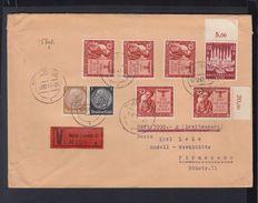 Dt. Reich Wertbrief 1943 Halle Nach Pirmasens - Deutschland