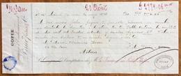 MARCA DA BOLLO  SU CAMBIALE PERIER FRERES PARIS  1876  DI 2774,06 En Oro   CON FIRME AUTOGRAFE - Cambiali