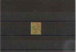 NOUVELLE CALEDONIE Années 1892/93 N°Y/T : 36 Oblitéré  Côte :26,00 € - Gebraucht