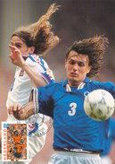 D31489 CARTE MAXIMUM CARD FD 2000 NETHERLANDS - SOCCER EUROPEAN CHAMPIONSHIP EURO 2000 MALDINI CP ORIGINAL - UEFA European Championship