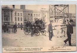 BELGIQUE : Fete Patriotique Des Pompiers, Berchem 10 Septembre 1905 Les Sapeurs-pompiers De La Maison - Tres Bon Etat - Belgique