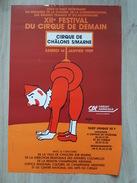 Affiche XII Festival Du Cirque De Demain - Chalons En Champagne - Illustré Par Savignac - Manifesti