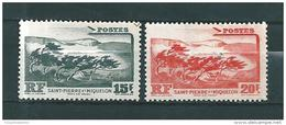 Timbres De St Pierre Et Miquelon  De 1947  N°341 Et 342    Neufs ** - St.Pedro Y Miquelon