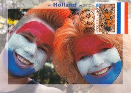 D31490 CARTE MAXIMUM CARD FD 2000 NETHERLANDS - SOCCER EUROPEAN CHAMPIONSHIP EURO 2000 - DUTCH FANS CP ORIGINAL - UEFA European Championship