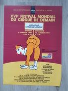 Affiche XVI Festival Mondial Du Cirque De Demain - Chalons En Champagne - Illustré Par Savignac - Affiches