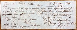 CAMBIALE PRIMA DI CAMBIO GENOVA 1814  DI 500.850  CON FIRME E TESTO DA DECIFRARE DOCUMENTO ORIGINALE INTERESSANTE - Cambiali