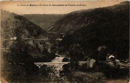 CPA  Le Pont De Bonne Et La Gare De Colombier-le-Vieux  (484430) - France