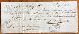 MARCA DA BOLLO SU  CAMBIALE(1867) MILANO 1870  DI 763 ITALIANE LIRE   Documento Con Firme Autografe - Cambiali