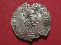France - Monnaie Charles VI à Identifier - Florette ? 5959 - 1380-1422 Charles VI Le Fol