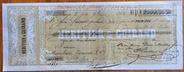 MARCA DA BOLLO SU CAMBIALE PARIS 1868  DI 2000 FR.ORO  DOCUMENTO ORIGINALE CON FIRME AUTOGRAFE - Cambiali