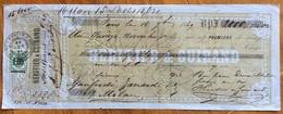 MARCA DA BOLLO SU CAMBIALE PARIS 1869  DI 2000 FR.ORO  DOCUMENTO ORIGINALE CON FIRME AUTOGRAFE - Cambiali