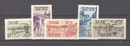 Sarre  :  Yv  244-47 +Av 12  **      ,    N2 - 1947-56 Occupation Alliée