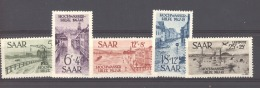 Sarre  :  Yv  244-47 +Av 12  * - 1947-56 Occupation Alliée