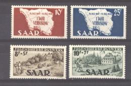Sarre  :  Yv  248-51  ** - 1947-56 Allierte Besetzung
