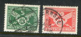 Deutsches Reich / 1925 / Mi. 370/371 O, Verkehrsausstellung Muenchen (1/421) - Gebruikt