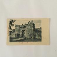 BEAUMARIS 1900s Castle Entrance B/W Unused 'Wyndham' Series - Anglesey