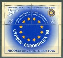 Cyprus: 1995   European Culture Month   M/S    MNH - Chypre (République)