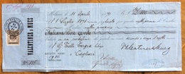 MARCA DA BOLLO SU CAMBIALEVALENTINER & NUES 1870 DI 100 ITALIANE LIRE    DOCUMENTO ORIGINALE CON FIRME AUTOGRAFE - Cambiali