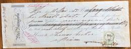MARCA DA BOLLO AUSTRIA SU CAMBIALE PETER BARAGLIONA WIEN 1855 DI 239 FIORINI D'ORO CON FIRME AUTOGRAFE - Cambiali