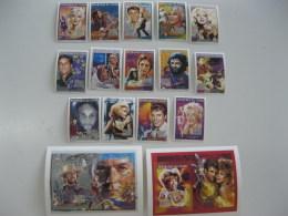 Chad-1996-famous People Singers-Elvis,Madonna,Lennon-MI.1272-85A,BL.245,246 - Chad (1960-...)