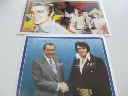Chad-1996-famous People-Elvis Presley,Nixon-bl.252A,B - Chad (1960-...)