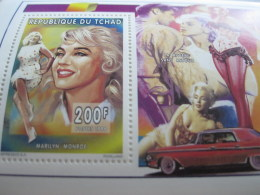 Chad-1996-famous People-Marilyn Monroe-bl.253A - Chad (1960-...)