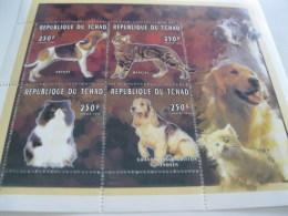 Chad-1996-fauna Flora-dogs Cats-MI.1387-90 - Chad (1960-...)