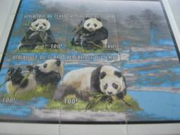 Chad-1996-fauna Flora-wild Animals-panda-MI.1375-78 - Chad (1960-...)