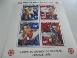 Chad-1996-SPACE,sports,soccer,football-world Cup France98-klb.MI.1418-21 - Chad (1960-...)