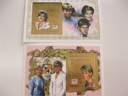Chad-1997-famous People-lady Diana-gold-bl.276,277 - Chad (1960-...)