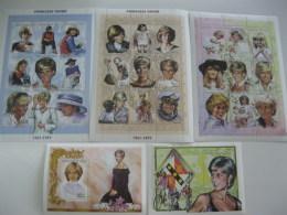 Chad-1997-famous People-lady Diana-MI.1524-50,bl.274,275 - Chad (1960-...)