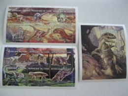 Chad-1998-fauna Flora-prehistoric Animals-dinosaurs-MI.1838-49,BL.291 - Chad (1960-...)