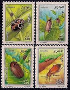 Algeria 2000 Beetles Beetle Insects Insect Animals Nature Plants Fauna Animal Stamps MNH Michel 1308-1311 Sc#1194-1197 - Plants