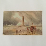 WHITBY  1911 'A Rough Day' Used Colour Painting 'Dainty' Brand - Whitby