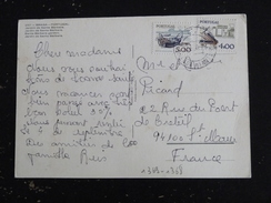 PORTUGAL YT 1369 ET 1368 BARQUE PECHE PELAGIQUE ECRITURE MANUELLE - BRAGA JARDIN SANTA BARBARA - 1910-... République