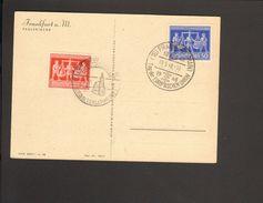 Alli.Bes.24 U.50 Pfg.Exportmesse Hannover Mit 2 Sonderstempeln Frankfurt Nationalversammlung/Tag D.EU 1948 - Gemeinschaftsausgaben