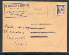 Algérie - Surcharge Locale De Mostaganem Sur Enveloppe Commerciale Pour La France En 1962 - Ref S78 - Algérie (1962-...)