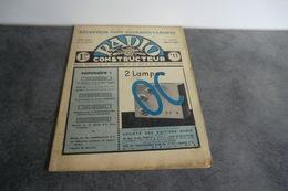 Revue Radio Construction N°11 - 10 Août 1937 - - Composants
