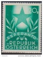 """Österreich 1949: """" Esperantokongreß""""  Postfrisch (sieheFoto(Scan) - 1945-.... 2nd Republic"""