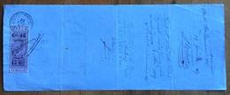 MARCA DA BOLLO V.E.II 45/25 C. SU CAMBIALE ANVERS 1867 DI 256,51 FR, ORO  DOCUMENTO  CON FIRME AUTOGRAFE - Cambiali