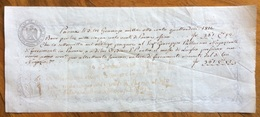 CAMBIALE DUCATO DI PARMA 1814 OCCUPAZIONE FRANCESE DI L.1520 DI PARMA (FR.361,52) N. E Riquadro In Filigrana - Cambiali