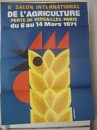 Affiche 1971 SALON INTERNATIONAL DE L'AGRICULTURE 8eme Porte De Versailles A Paris Auriac 56 X 76 Cm - Posters