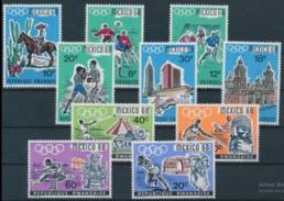 Rwanda Jeux Olympique De Mexico 1968 Série De 10 Tp Y&T N° 243 / 52 MNH ** - Sommer 1968: Mexico