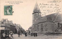 BELLOU EN HOULME - La Place De L'Eglise - France